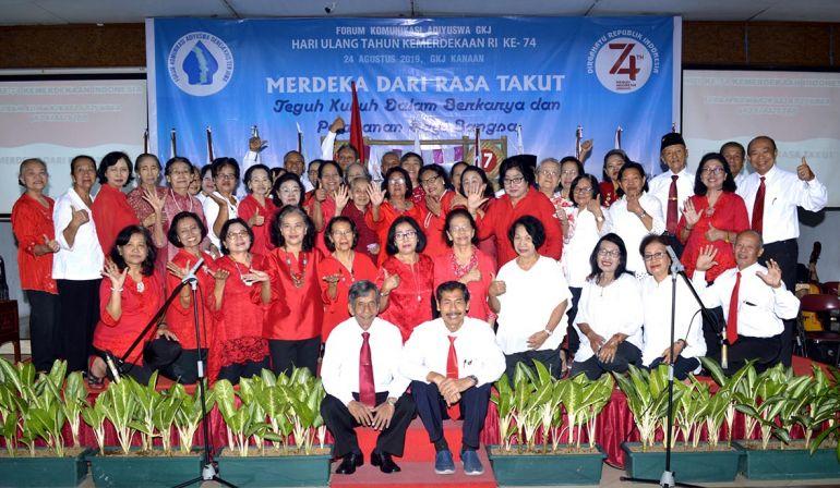 Peringatan HUT Kemerdekaan RI ke 74 Komisi Adiyuswa